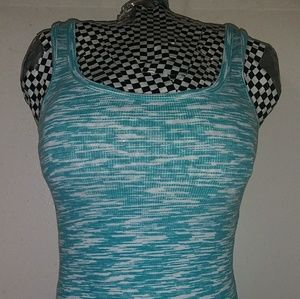 Turquoise Faded Glory Tank Top